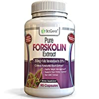 Pure Forskolin Extract for Weight Loss, Metabolism Booster and Belly Fat Burner for Women & Men | Non-GMO Coleus Forskohlii Appetite Suppressant & Carb Blocker Diet Pills | 90 Capsules