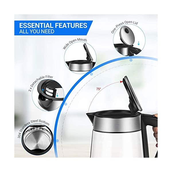 Kitchen & Dining Electric Kettles alpha-grp.co.jp 1.7L Cordless ...