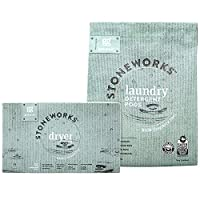 Grab Green Stoneworks Laundry Detergent Pods and Dryer Sheet Kit, Powered by Naturally-Derived Plant & Mineral-Based Ingredients, Fragrance Free Rain, 50 Loads