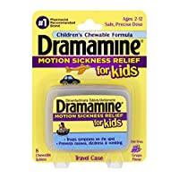 Dramamine Motion Sickness Relief for Kids   Chewable Grape   8 Count