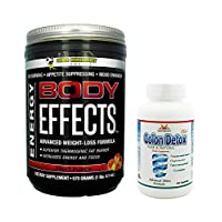 Body Effects Plus 1 Colon Detox, Fruit Punch Power Performance Products, Pre Workout Ultimate Weight Loss, Fat Burning, Energy Boosting, Appetite Suppressing, Mood Enhancing and Muscle Defining