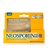 Neosporin Pain Itch Scar Antibiotic Ointment for Infection Prevention and Pain Relief, 1.0 oz