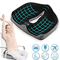 ROYI Memory Foam Seat/Chair Cushion for Relieves Back, Sciatica Pain,Tailbone Pain,Coccyx, Degenerating Disc, Orthopedic, Osteoarthritis, Sacrum, Prostate Cushion, Low Back Pain Cushion,Hip Shaping
