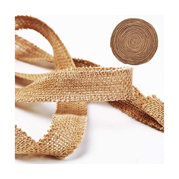 SGHUO 8Pcs Burlap Ribbon Lace Roll with 164 Feet Jute Twine 17.5 Yards//630 inches Wired Burlap Ribbon for Wedding Decorations DIY Handmade Crafts