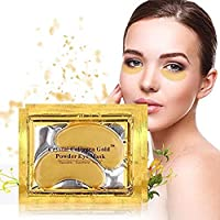 10/20/30/50/60/80/100 pairs wholesale New Crystal 24K Gold Powder Gel Collagen Eye Mask Masks Sheet Patch, Anti Ageing Aging, Remove Bags, Dark Circles & Puffiness, Skincare, Anti Wrinkle, Moisturising, Moisture, Hydrating, Uplifting, Whitening, Remove Blemishes & Blackheads Product. Firmer, Smoother, Tone, Regeneration Of Skin. Suitable For Home Use Hot or Cold. (20 pairs)