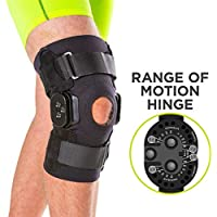 BraceAbility Torn Meniscus ROM Knee Brace | Hinged Post Surgery Support with Flexion/Extension Control for Hyperextension & Locking Treatment, Ligament (PCL/ACL) Tears, Osteoarthritis (2XL)