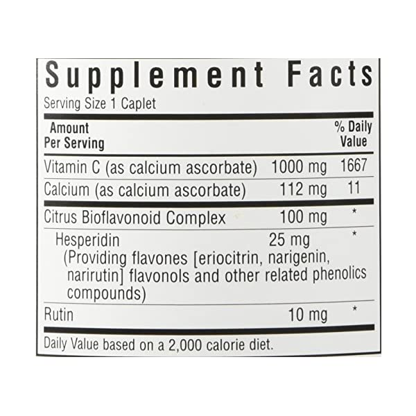 BlueBonnet Buffered Vitamin C 1000 mg Caplets, 180 Count