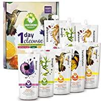 LEMONKIND Purify and Debloat 1 Day Reset Cleanse for Healthy Weight Loss Jumpstart, Detox, Improved Digestion & Increased Energy – Plant-Based Superfoods, Non-GMO & Gluten-Free Certified - 8 Juices