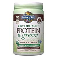 Garden of Life Greens and Protein Powder, 20 Servings, Organic Raw Protein and Greens with Probiotics/Enzymes, Vegan, Gluten-Free, Chocolate Powder