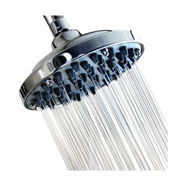 "Rainfall Wall Mount Shower Head with Showerhead Swivel 157 Jets WantBa 8/"" Wide"