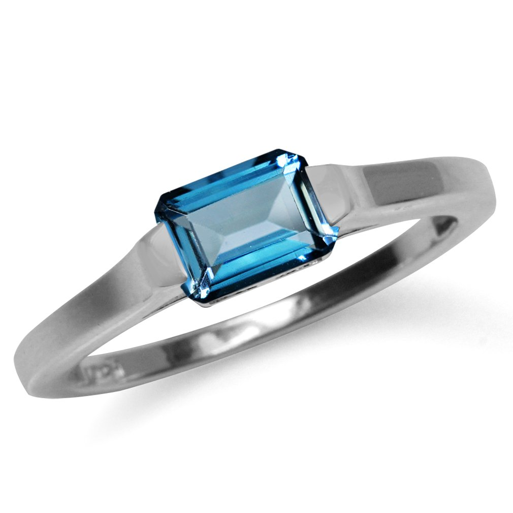 10X8mm Genuine Oval Shape London Blue Topaz 925 Sterling Silver Solitaire Ring Silvershake 3.08ct