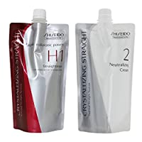 Hair Rebonding Shiseido Professional Crystallizing Hair Straightener (H1) + Neutralizing Emulsion (2) for Resistant to Natural Hair