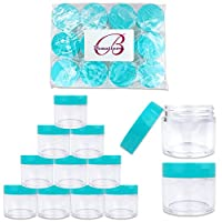 BPA Free Jar-30g-Clear Beauticom 300 Pieces 30 Gram 30 ML 1 Ounce Empty Refillable Round Clear Jars with Screw Cap Lid for Mineralized Makeup Powdered Foundation Eye Shadow Pigments and More