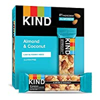 KIND Bars, Almond & Coconut, Gluten Free, Low Sugar, 1.4 Ounce, 48 Count