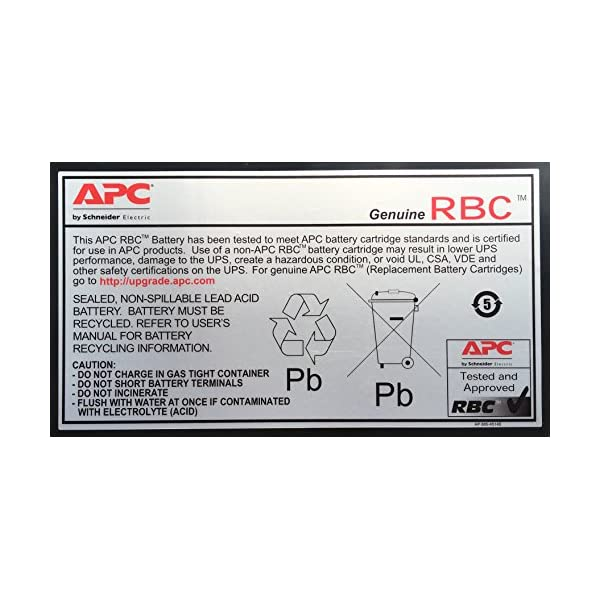 UPSBatteryCenter Compatible Replacement Battery for APC Back-UPS 550VA BE550G BE550G
