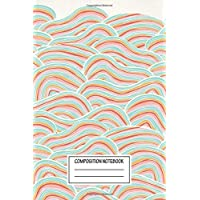 Composition Notebook: Abstract Summer Sea Waves Nautical Wide Ruled Note Book, Diary, Planner, Journal for Writing