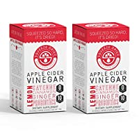 Squeeze Dried Apple Cider Vinegar: Natural Weight Loss, Detox, Inflammation, Digestion & Circulation with Probiotics - 60 Single Serving Sticks