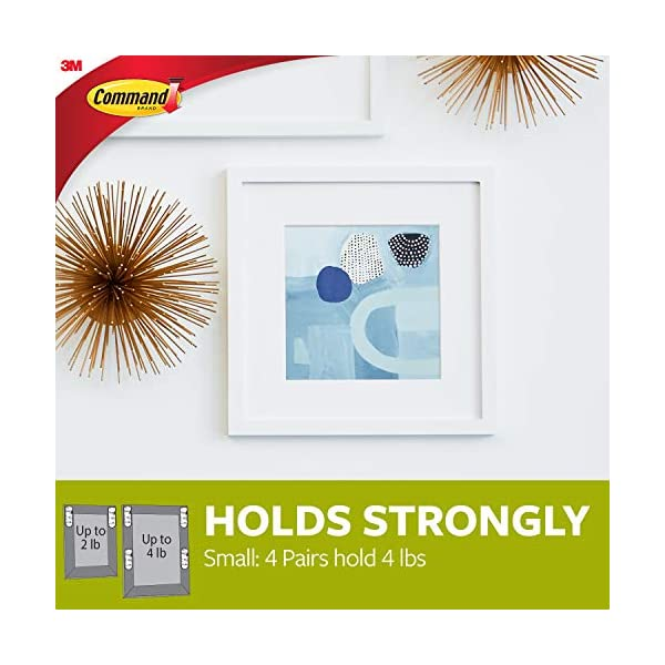 Small in easy-to-open packaging 16 Pairs Command PH205-16NA Picture Hanging Strips White