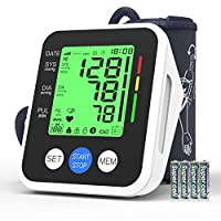 Blood Pressure Monitor, IVKEY Upper Arm Blood Pressure Monitor, Digital Automatic Measure Blood Pressure and Heart Rate Pulse with Wide-Range Cuff for Home use, 3.5'' Three-Color Backlight Display