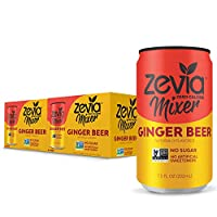 Zevia Ginger Beer, 7.5oz (Pack of 12) Zero Calories or Sugar, Naturally Sweetened with Stevia Leaf Extract , A Perfect Drink Mixer