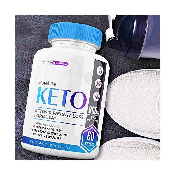 PureLife Keto Pills – Utilize Fat for Energy with Ketosis – Ketogenic Carb Blocker for Women and Men – Manage Cravings, Boost Energy & Focus – Support Metabolism – Max Strength Formula