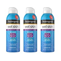 Neutrogena Wet Skin Sunscreen Spray Broad Spectrum SPF 85+, Sweat and Water Resistant Sun Protection, 5 oz (Pack of 3)