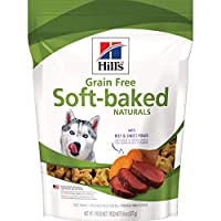 Hill's Grain Free Dog Treats, Soft-Baked Naturals with Beef & Sweet Potatoes, Soft Healthy Dog Snacks, 8 oz Bag