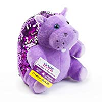 Creativity for Kids Mini Sequin Pets  - Hope The Hippo Plush Toy - Weighted Sensory Toys for Kids 6217000