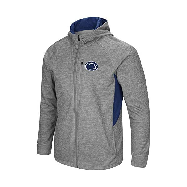 Colosseum Mens NCAA-Townie-1//2 Zip-Corded-Fleece Pullover Jacket