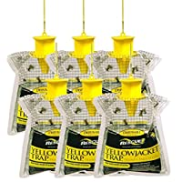 RESCUE! Disposable Yellowjacket Trap with Attractant – Western Time Zones (Pacific, Mountain) – Pack of 6