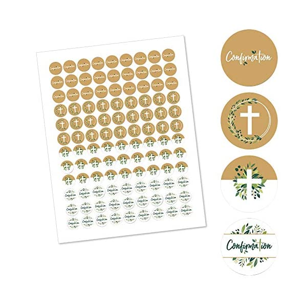 1 Sheet of 108 Girl Religious Party Round Candy Sticker Favors Labels Fit Hershey/'s Kisses Pink Elegant Cross