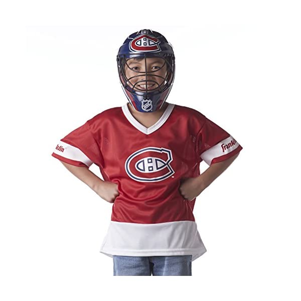 Halloween Fan Outfit NHL Official Licensed Product Franklin Sports Montreal Canadiens Kids Hockey Costume Set Youth Jersey /& Goalie Mask