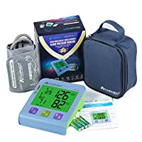 Amplim Fully Automatic Upper Arm Digital Blood Pressure Monitor with Universal Cuff and Premium Storage Pouch, 8.7 Inches -16.5 Inches Arms, Series 10, Blue-Green