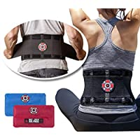 Old Bones Therapy Back Braces (Back Brace + Gel Packs, S/M, Fits 27-34 Inches)