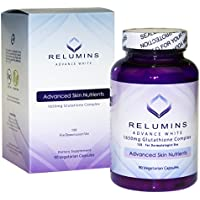 Relumins Advance White 1650mg Glutathione Complex - 15x Dermatologic Formula with Advanced Skin Nutrients