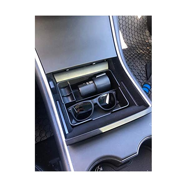 SPAUTO Tesla Model 3 Center Console Organizer Tray with Coin and Sunglass Holder for 2017 2018 2019 Model 3 Accessories
