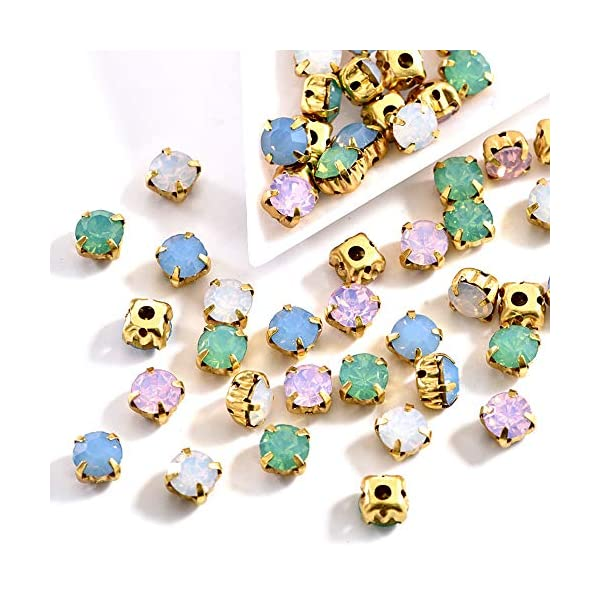 Mixed size mixed colors shapes rhinestones sew on glass 62pcs diy supplies