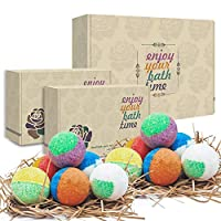 12 Organic & Natural Bath Bombs, Handmade Bubble Bath Bomb Gift Set, Rich in Essential Oil, Shea Butter, Coconut Oil, Grape Seed Oil, Fizzy Spa to Moisturize Dry Skin, Perfect Gift idea For Women.