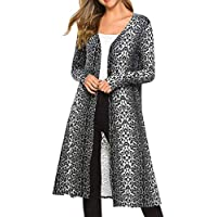 Womens Ladies Long Cardigan Camouflage Long Sleeve Coat Outerwear
