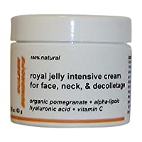 GOLDEN SUNDROPS ROYAL JELLY INTENSIVE CREAM FOR FACE NECK AND DECOLLETAGE (2.25 OZ / 63 G) MOST POWERFUL ANTIOXIDANTS ORGANIC POMEGRANATE ALPHA-LIPOIC ACID AND MOISTURIZER HYALURONIC ACID + VITAMIN C