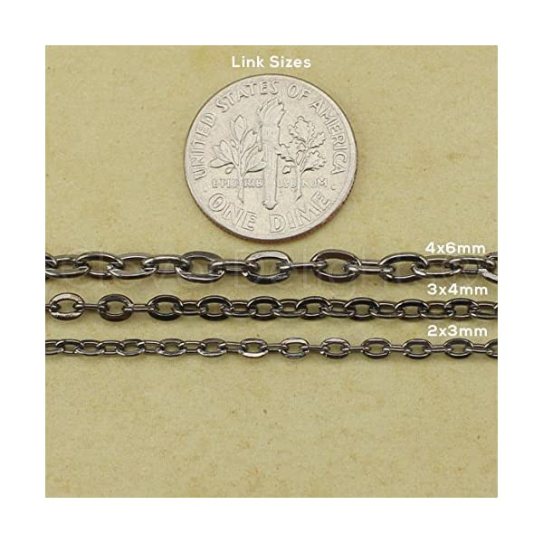 TecUnite 24 Pack Bronze Link Cable Chain Necklace DIY Chain Necklaces 18 Inch