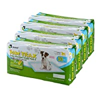 Richell Paw Trax Super Absorbent Pet Training Pads, 200 Pack, pad Size 17.7 x 23.6, Potty pad