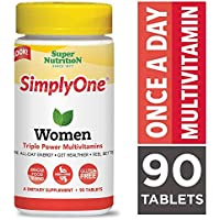 SuperNutrition, SimplyOne Multi-Vitamin for Women, High-Potency, One/Day Tablets, 90 Day Supply