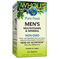 Whole Earth & Sea from Natural Factors, Men's Multivitamin & Mineral, Whole Food Supplement, Vegan, 60 Tablets (30 Servings)
