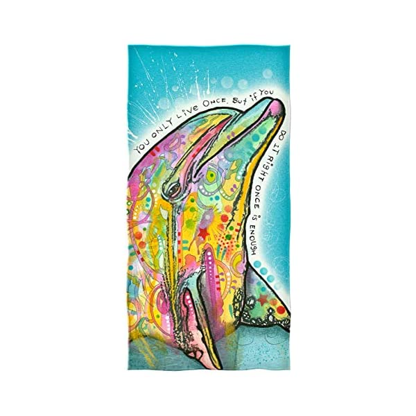 Dolphin Dawhud Direct Dean Russo Cotton Beach Towel