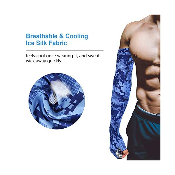 Arm Sleeves Colorful Diagonal Stripes Man Baseball Long Cooling Sleeves Sun UV Compression Arm Covers