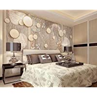 3D Wallpaper Tv Wall Decor Stickerr Chinese Style Wooden Frame Tree Root Annual Ring Pattern Modern Wall Paper Wall Stickers for Bedroom Decor