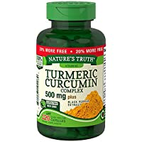 Nature's Truth Turmeric Curcumin Complex 500 mg Plus Black Pepper Extract, 120 Count
