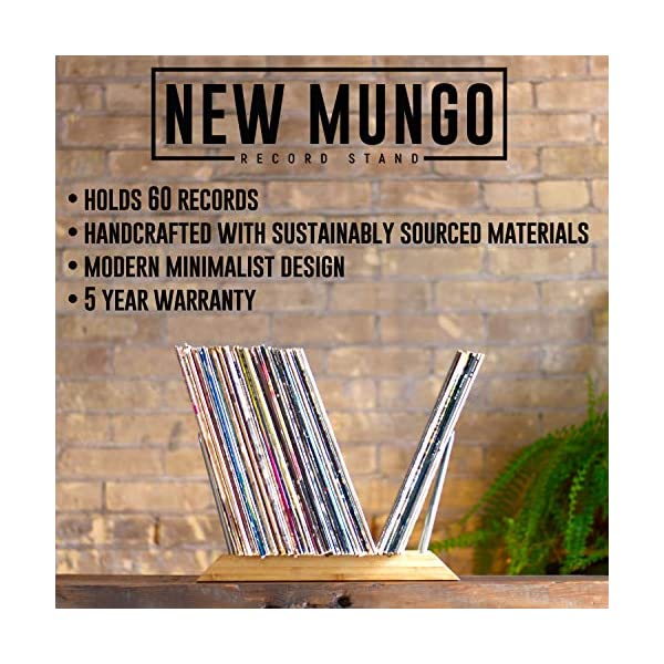 of Your Favorite LPs New Mungo Vinyl Record Storage Holder Display Stand for Albums Featuring an Easy Flip Through Minimalist Design Built with Sustainable Materials Showcase 60