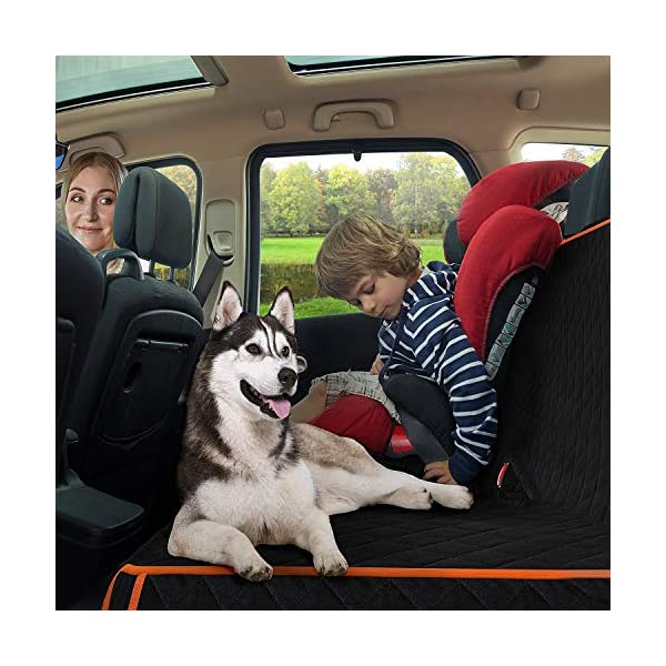 SUPSOO Dog Car Seat Cover Waterproof Durable Anti-Scratch Nonslip Back Seat Pet Protection Dog Travel Hammock for Cars//Trucks//SUV